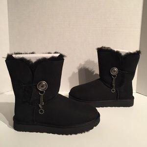 Ugg Azalea Button Charm Tassel Buckle Boot
